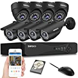 SANSCO CCTV Security Camera System with 8-Channel 1080P Smart