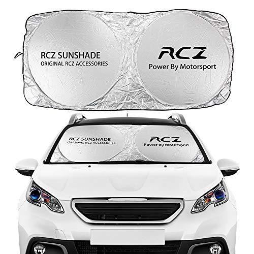 Leobtain Visera Solar Coche Windshield WindowsShades Sombrillas Auto Accesorios compatibles con Peugeot 107 108 206 207 208 306 307 308 407 408 508 2008 5008 RCZ Parasoles (Color : For RCZ)
