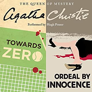 'Towards Zero' and 'Ordeal by Innocence' audiobook cover art