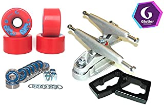 Glutier Set Surfskate Trucks T12 65mm 80a Red...