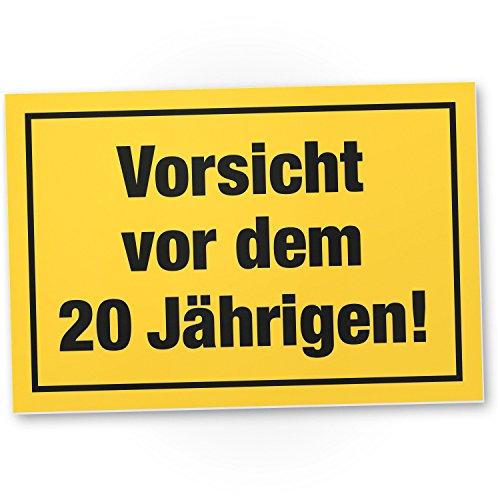 Bedankt! Wees voorzichtig voor het 20 jaar, plastic bord - Cadeau 20. Verjaardag mannen, cadeau-idee verjaardagscadeau tweigste, verjaardagsdeco/partyaccessoires/verjaardagskaart