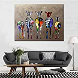 N / A Pintura sin Marco Sala de Estar Animal Abstracto Cebra Animal Lienzo Arte Pared Artista decoración del hogarZGQ5921 50X75cm
