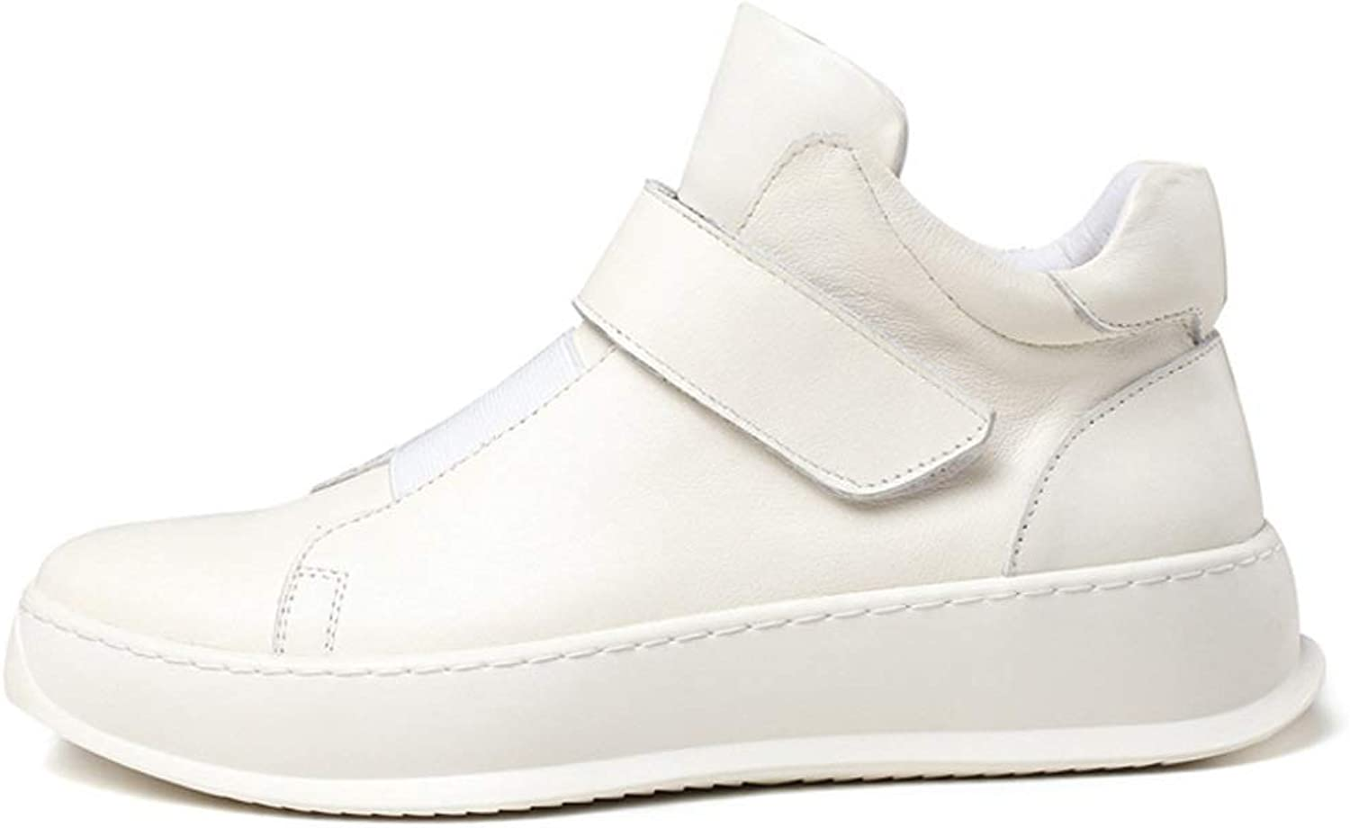 HWG-GAOYZ shoes Men's Martin Boots Ankle Footwear Autumn Winter Leather Casual Sports shoes Non-slip,White-41