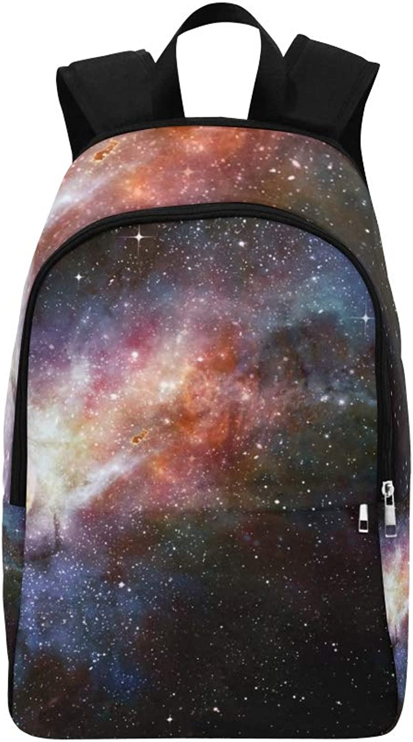 Deep Outer Space Stars Nebula Casual Daypack Travel Bag College School Backpack for Mens and Women