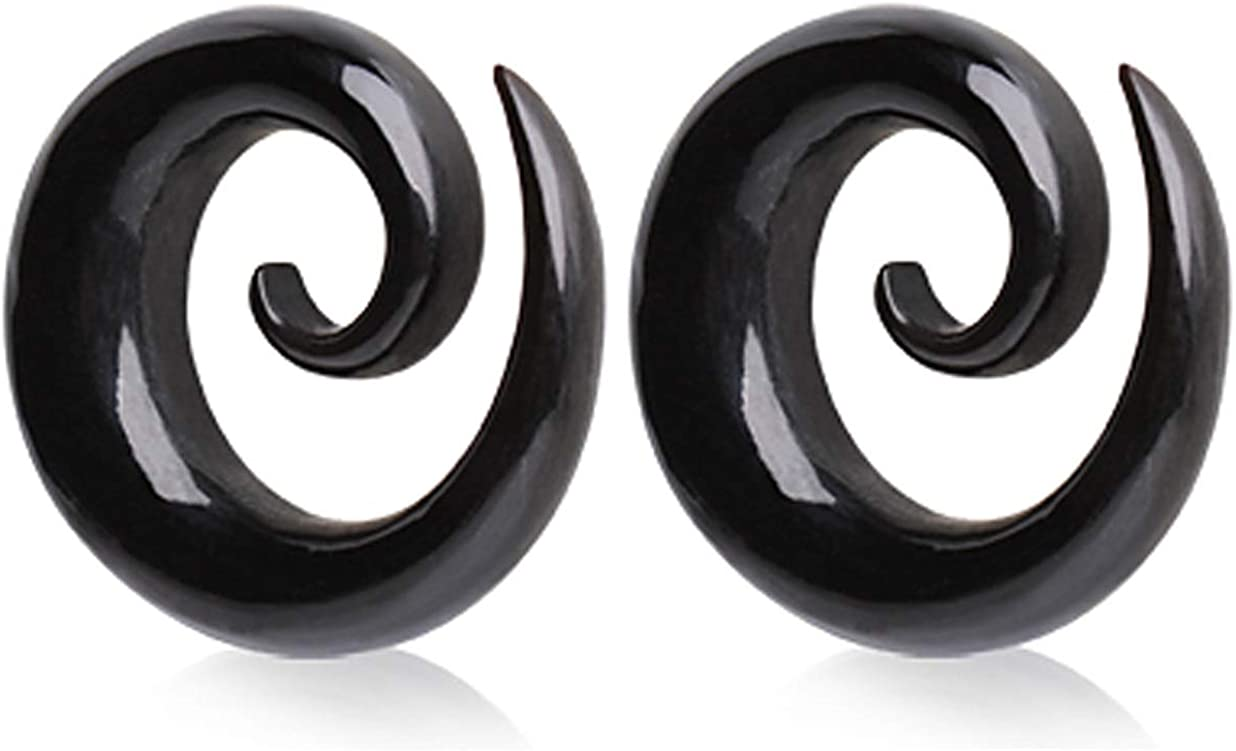 Organic Horn Tribal Cross,Hanging Plugs Buffalo horn ear plugs gauges Pair of Ear Taper Pincher Plug Gauges