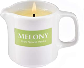 MELONY Vanilla Massage Oil Candle, Aromatherapy Body Essential Oils Edible Natural Soy Lecithins, Moisturizing SPA, 2.82oz