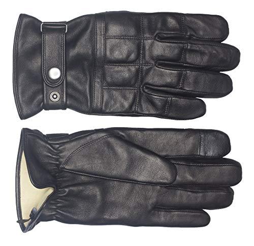 EEM Herren Sicherheits-Handschuhe CHUCK aus Lammnappaleder mit Kevlar Schnittschutz-Futter, Quarzsandfüllung und Touch-Funktion, robust, Sicherheit, schnittfest Schwarz XL