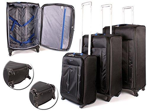 Sirocco - Juego de maletas Negro Negro