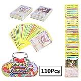110Pcs Jeu de Cartes Pokemon Cartes, Carte de Pokemon Amusant pour Enfants, Cartes à Collectionner, Sun & Moon Series Burning Shadows (4)