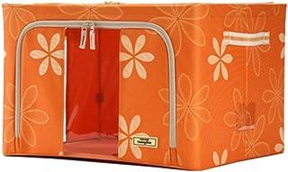 PPCP Storage Box Fabric Oxford Cloth Folding Wardrobe Storage Box (Color : Orange)