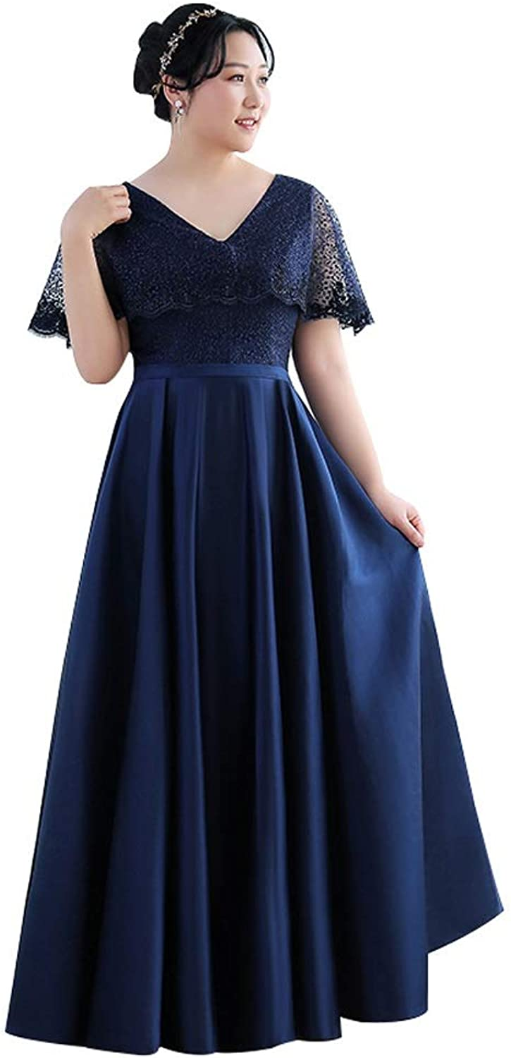Women's Flowy Formal Batwing Sleeve Maxi Long Evening Gown Ball Gown (Size   M)