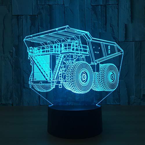 Hual Truck e Motion 3D LED Nachtlicht USB Tischlampe Kinder Geburtstag Geschenk Nachtdekoration am Bett