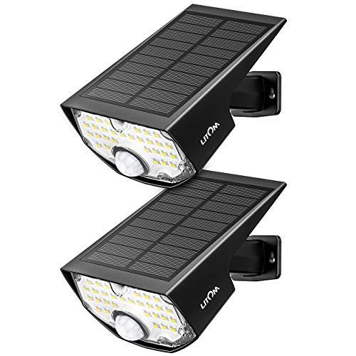 高輝度センサーライト 300ルーメン 屋外 ソーラーライト 3つ点灯モード 設置超簡単 IP65防水 停電防災緊急ライト 人感センサー 防犯ライト 太陽光発電 夜間自動点灯 玄関 庭 駐車場 24ヶ月間保証 2個セット