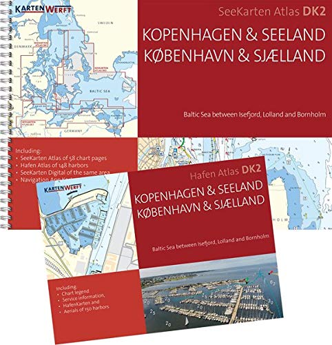 Preisvergleich Produktbild SeeKarten Atlas DK2 / Kopenhagen & Seeland: Westliche Ostsee zwischen Isefjord,  Lolland und Bornholm