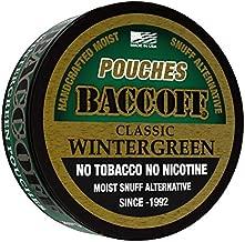BaccOff, Classic Wintergreen Pouches, Premium Tobacco Free, Nicotine Free Snuff Alternative (10 Cans)
