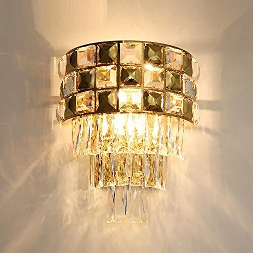 Nieuwste wandlamp goud kristal roestvrij staal LED woonkamer