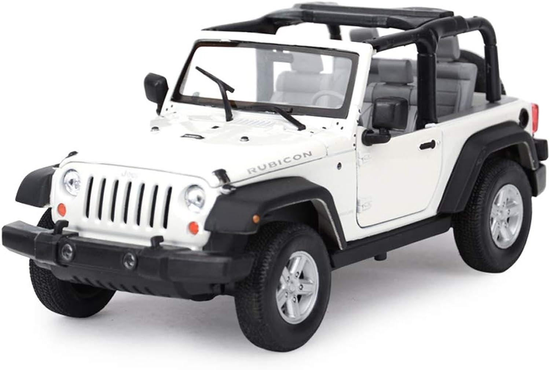 tomamos a los clientes como nuestro dios ZHPBHD Vehículo Todoterreno SUV Modelo 1 24 de simulación simulación simulación de aleación Modelo de Coche de Juguete Modelo (Color   blanco - Converdeible)  Obtén lo ultimo