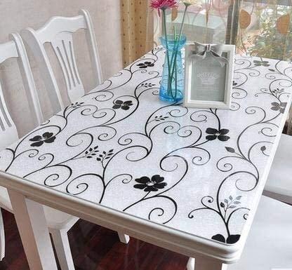 BECCYYLY Mantel Vidrio Blando Cuadro de Tela Impermeable Mantel de plástico de Color 90 * 90cm Foto Mantel de Vidrio Blando