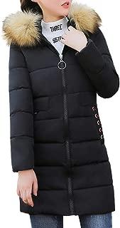DaySeventh Women Winter Warm Coat Faux Fur Hooded Thick Warm Slim Jacket Long Overcoat