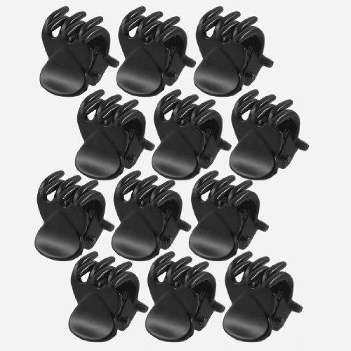 Sourcingmap pour Femmes 6 Griffes Pince à Cheveux Pince à Cheveux/Clamp, Noir – 12 pièces