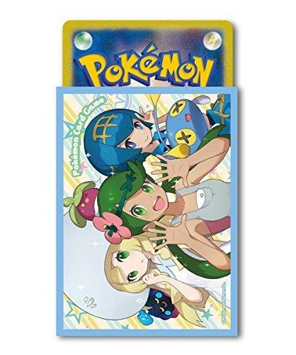 Pokemon Mallow Lana Lillie Character Card Game Sleeves 64pc Anime Sun Moon image