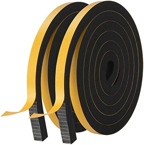 Weather Stripping Door Seal Strip High Density Foam Tape Doors and Windows Insulation Soundproofing product image