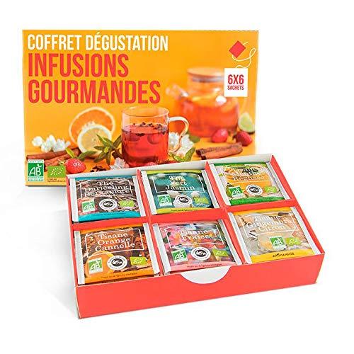 Les Encens du Monde cofanetto regalo con 6 bustine di tè in tutto il mondo.