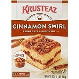 Krusteaz Cinnamon Swirl Crumb Cake and Muffin Mix, 21 Ounce
