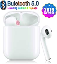 Bluetooth Earbuds Wireless Headphones with Mini Charging Case Pop-ups Auto Pairing3D Stereo Noise Reduction12Hours Playtime for Phone Apple AirpodSamsungAndroid/Airbuds Earbuds Bluetooth5.0Headsets