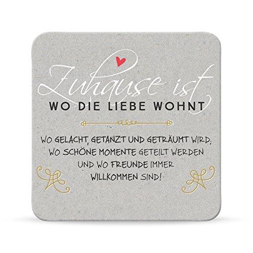 Sheepworld, Happy Life - 44593 - Untersetzer Nr. A19, Wo die Liebe wohnt, Kork, 9,5cm x 9,5cm