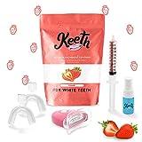 Kit blanchiment dents - Keeth goût Fraise – Obtenez de belles dents blanches à...