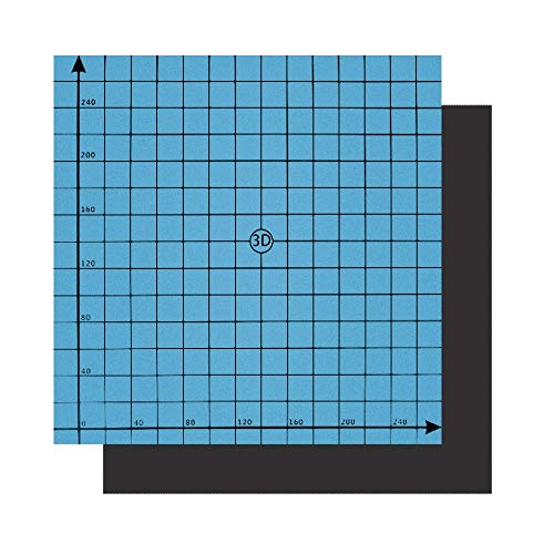 3 Pieces UEETEK 3D Printing Build Surface 3D Printer Plate for Heated Bed 220mm x 220mm Square