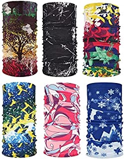 Fitness Equipment Pack of 6 Sport Headbands Sun Protection Neck Scarf Breathable Headscarf for Cycling Fishing Camping Random Style