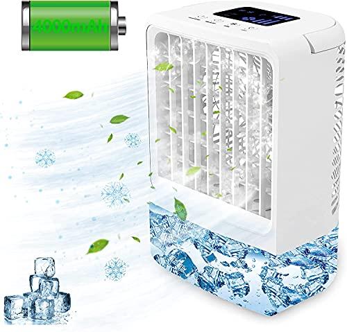 Aire Acondicionado Portatil Silencioso ANEEWAY, Ventilador de Aire Acondicionado Móvil Climatizador Evaporativos con Función de Humidificación Purificador, Enfriamiento, Ventilación