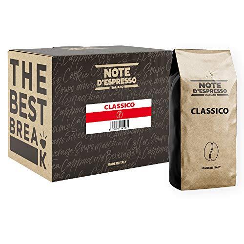 Note d'Espresso - Clásico - Café en Grano - 1kg (Caja con 2 Paquetes)