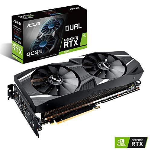 ASUS NVIDIA GeForce RTX 2070 Dual OC 8G Gaming Grafikkarte (Nvidia, PCIe 3.0, 8GB DDR6 Speicher, HDMI, Displayport, USB Type-C)