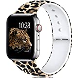 Laffav Compatible with Apple Watch Band 40mm 38mm for Women Men, Classic Leopard, M/L