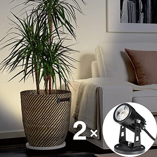 SUNVIE 2 Pack LED Spot Lights Indoor for Plants Uplights...