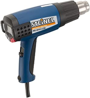 Steinel HG 2310 Industrial Heat Gun with LCD Display, 1600 W power blowing hot heat, temperature and airflow continuously variable, lockable override control, ideal for use on electronics, aerospace, medical manufacturing, 34870