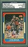 Blazers Clyde Drexler'HOF 04' Signed 1986 Fleer #26 Card PSA/DNA Slabbed 1 - Basketball Slabbed Rookie Cards