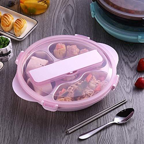 CHENCfanh Fiambrera Almuerzo de Bento Box con Frutas/Tarro de Yogur, Acero Inoxidable 304 Fiambrera Fiambrera, Estudiante de la Manera aislada Fiambrera, Estudiante portátil/Empleado de Oficina /