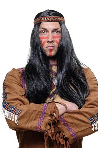 WIG ME UP - LM3049-P103 Perücke Indianer Indianerin schwarz