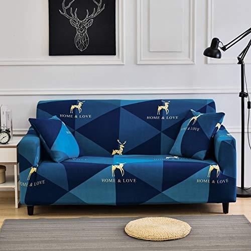 ASCV Sofa Schonbezüge Stretch Sofabezüge für Wohnzimmer Elastische Couchbezüge Loveseat Schnittmöbel Stuhl Protector A10 4-Sitzer