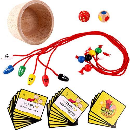 Yifuty Spaß Brettspiel Kinder aus Holz Maus Fangspiel Lernspielzeug Konzentrationstraining Eltern-Kind-Interaktion 3-4-6 Jahre alt