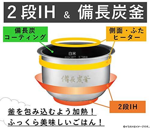 パナソニック炊飯器3.5合ひとり暮らしIH式フラット天面ブラックSR-KT060-K