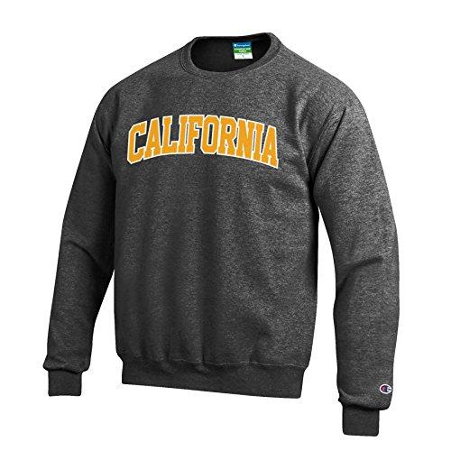 NCAA California Golden Bears Men's Eco Power Blend Crew Neck Sweat Shirt, X-Large, Gray