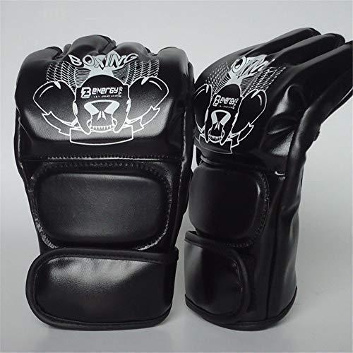 Ziyi Guantes de Boxeo Guantes de Boxeo Guantes Adulto MMA Medio Dedo...