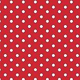 Baumwollstoff Punkte Rot Webware Meterware Popeline OEKOTEX