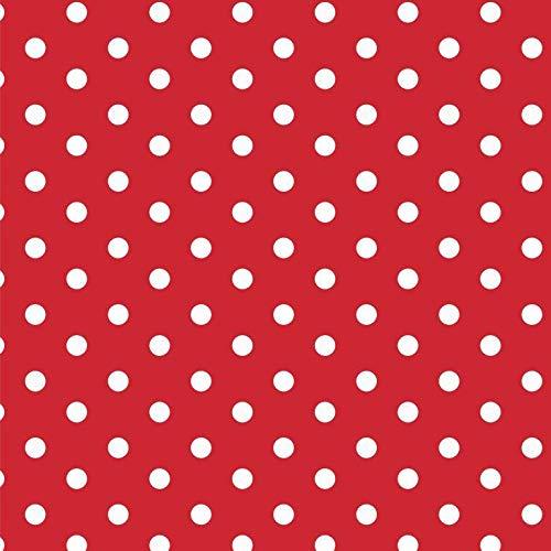 Baumwollstoff Punkte Rot Webware Meterware Popeline OEKOTEX 150cm breit - Ab 0,5 Meter