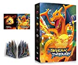 �lbum de Pokemon, Carpeta �lbumes para Cartas Pokemon, �lbum Titular de Cartas Pokémon, Album for Pokemon Cards, 30 Páginas con capacidad para 240 cartas (XY-Charizard)